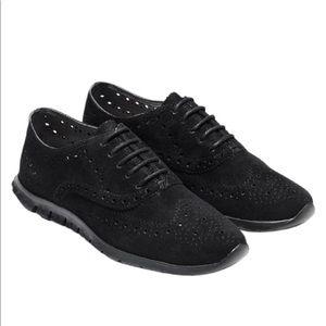 Cole Haan zerogrand Black suede oxford sneakers